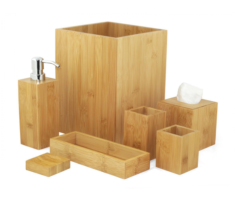 Accessoires salle de bain en bambou MK Bamboo LONDON - Réduction