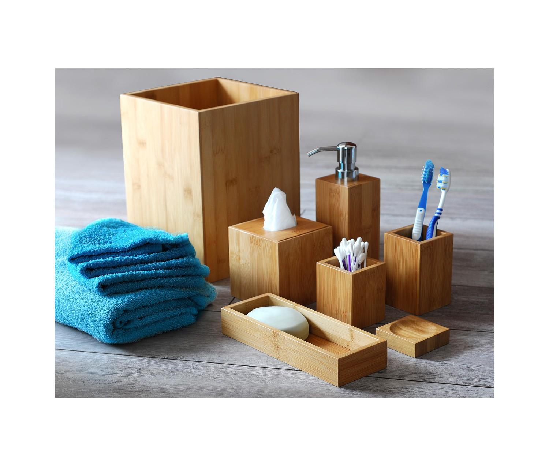Accessoires salle de bain en bambou mk bamboo london - Accessoire salle de bain bambou ...