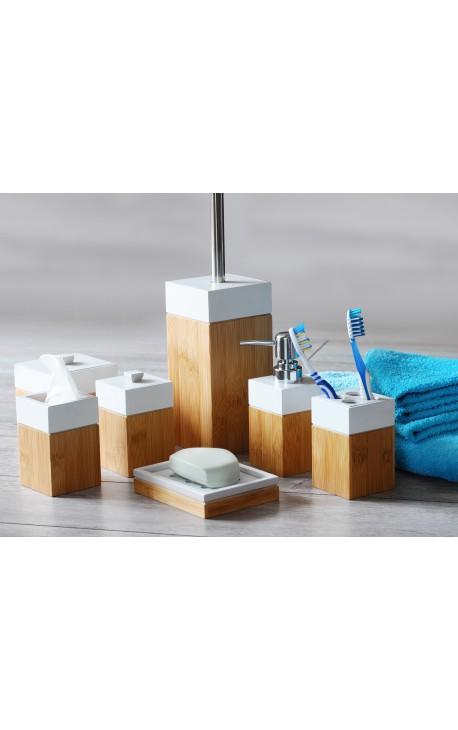 Accessoires salle de bain en bambou MK Bamboo LONDON