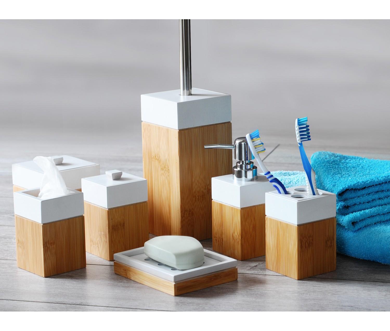 Accessoires salle de bain en bambou mk bamboo paris - Accesoire salle de bain ...