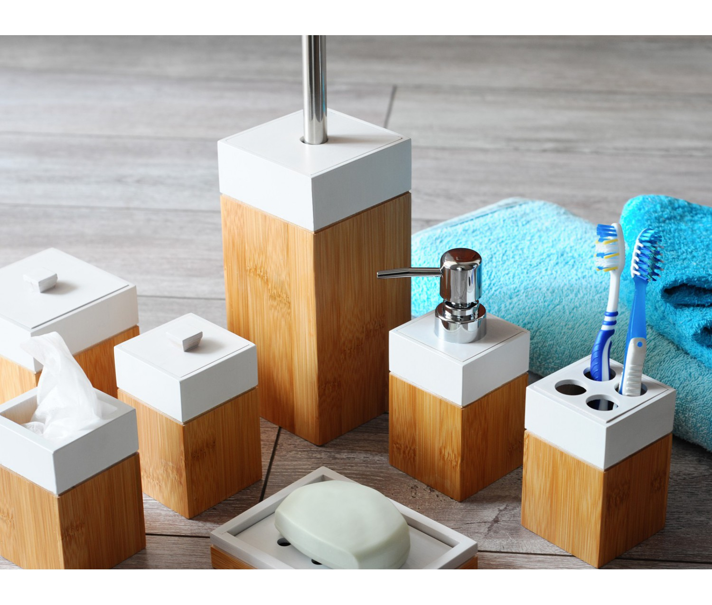 Accessoires salle de bain en bambou for Accessoires salle de bain