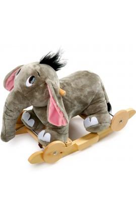 Elephant a bascule en bois